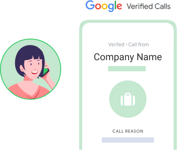 Increase call pick up with Google verified calls