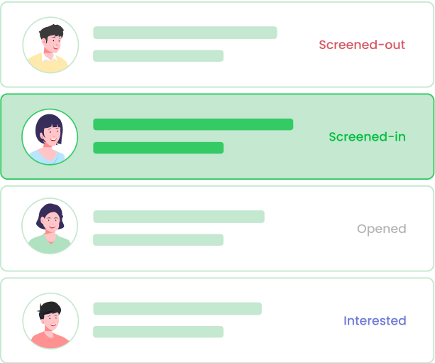 Screen candidates faster